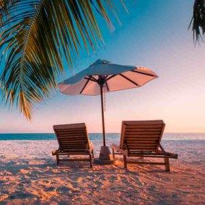 playa arena tumbona
